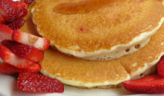 We offer Pancakes, chocolate chip pancakes, french toast & waffles.